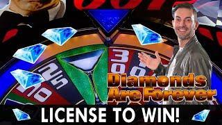 LICENSE TO WIN  007 Diamonds Are Forever BONUS  CRAZY Cash Wizard World Win!