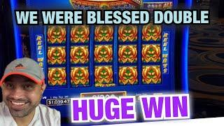 DOUBLE BLESSINGS SLOT BLESSED US! HUGE WIN @ RIVER SPIRIT CASINO! DRAGON RISING & CASH VAULT BONUES!