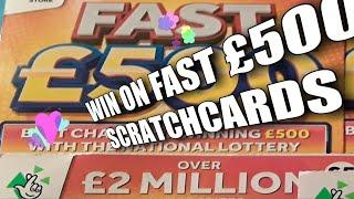 •Wow!•1st.FAST £500's(•Its the FAST 500's WEEK•)The Original Fast £500's•️Scratchcard•️