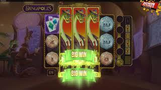Dinopolis Slot - 3 Stacked Wild Reels MEGA WIN!