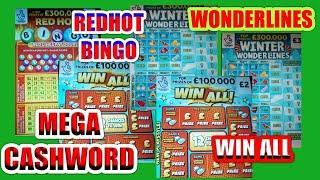 MEGA CHASHWORD..WONDERLINES..WIN ALL!..REDHOT BINGO..5X CASH..WIN £50