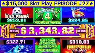 Wonder 4 Jackpots Timber Wolf Deluxe & Buffalo Gold Max Bet | EPISODE-27 | Live Slot Play w/NG Slot