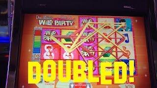 Dean Martin's Wild Party Live Play 5 cent denom DOUBLED Slot Machine