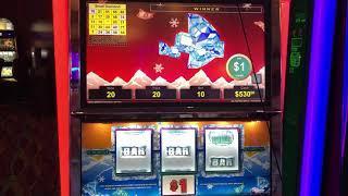 VGT SLOTS Polar High Roller BINGO PATTERNS AS THEY DEVELOP Choctaw Casino, Durant. OK