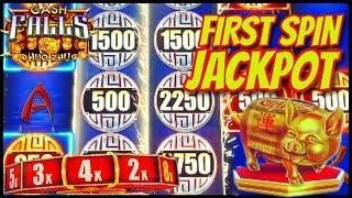 High Limit Cash Falls Huo Zhu HANDPAY JACKPOT $50 MAX BET 1st Spin Bonus Round Slot Machine Casino