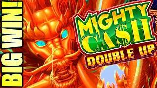 BIG WIN! MIGHTY CASH DOUBLE UP & TREASURE BOX  Slot Machine Bonus (Aristocrat)