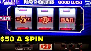 High Limit DOUBLE GOLD 3 Reel Slot Machine - $50 A Spin | SE-3 | EP-11