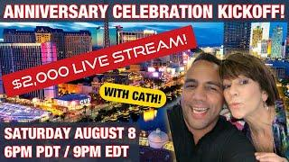 $2000 LIVE SLOT PLAY 1 YEAR CELEBRATION (Part 1) HIGH LIMIT SLOT PLAY!!  UP TO $50 BETS!!!