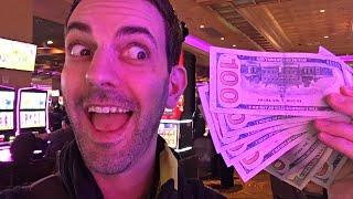 $1,000 Cash in the Casino  LIVE at San Manuel Casino  Slot Machine Fun