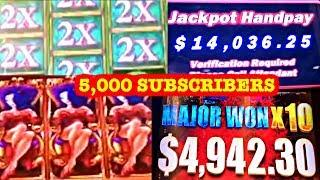 MY YEAR SO FAR  MY BEST HANDPAYS & JACKPOTS  5,000 SUBSCRIBERS