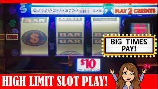 RARE OLD SCHOOL SLOT MACHINE  BIG TIMES PAY! $20 BETS  PLUS 3X4X5 TIMES PAY - $10 & $5 DENOM