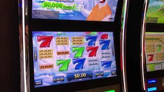 """VGT Slots Polar High Roller """"Live Handpay -Watch It Develop""""  $100 Max Bets.  Choctaw Gaming Casino"""