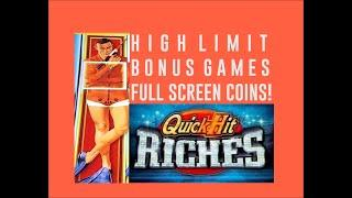 High Limit JAMES BOND Slot Bonuses - Full screen of coins! QUICK HITS RICHES High Limit