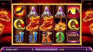 MUSTANG MONEY 2 Video Slot Casino Game with a RETRIGGERED MUSTANG MONEY 2 FREE SPIN BONUS