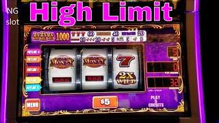 High Limit Slots Live Play  Easy Money , Cleopatra , African Diamond High Limit Slots Live Play