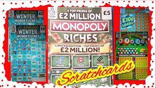 Scratchcards...12 Mths RICHER..BINGO..£100 LOADED..WINTER WONDERLINES..5X CASH..WIN £50..CASH MATCH