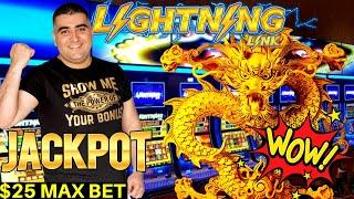 High Limit DRAGON RICHES Lightning Link Slot Machine HANDPAY JACKPOT - $25 Max Bet | SE-2 | EP-16