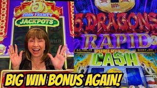 BIG WIN AGAIN ON NEW 5 COIN FRENZY JACKPOTS