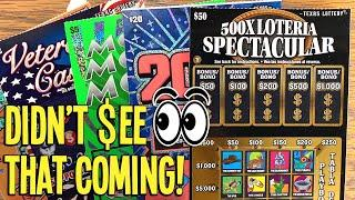NEVER UNDERESTIMATE ???  $50 500X Loteria  $130 TX LOTTERY Scratch Offs