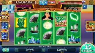 JADE MONKEY Video Slot Casino Game with a RETRIGGERED FREE SPIN BONUS
