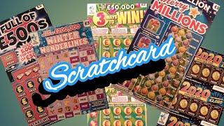 Scratchcards..Merry Millions..2020..Winter Wonderlines..3 Ways to Win..Full £500s