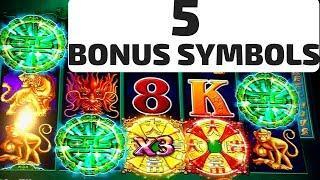5 Symbol Trigger! Tree of Wealth Slot Machine Bonus & Progressive Picking