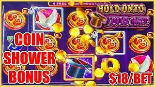 Lock It Link Hold Onto Your Hat HANDPAY JACKPOT HIGH LIMIT $18 Bonus Round Slot Machine Casino
