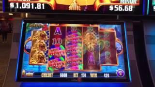 Super Wheel Blast Slot Machine Lion of Venice Free Spin Bonus Treasure Island Casino Las Vegas