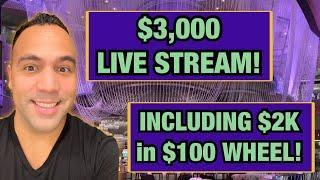 $100 Wheel of Fortune LIVE!! | ️ High Limit Lightning Link JACKPOT HANDPAY!! | Cash Machine $$$