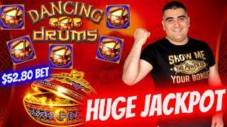 Big Handpay Jackpot On High Limit Dancing Drums Slot -$52.80 A Spin | Slot Machine BIG JACKPOT 2021
