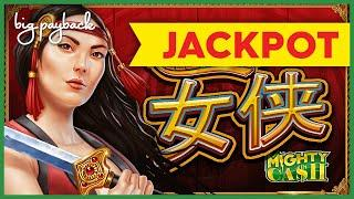 JACKPOT HANDPAY! Mighty Cash Nu Xia Red Blade Slot - WHOA, THAT JUST HAPPENED?!