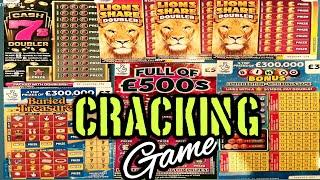 "EXCITING  SCRATCHCARD GAME""CASH 7s DOUBLER""LION DOUBLER""BURIED TREASURE""FULL 500""BINGO""MONEY SPINNER"