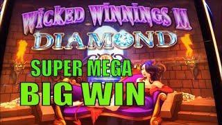 •NEW ! WICKED WINNINGS II DIAMOND•SUPER MEGA BIG WIN•Live Play & Super Free Game @ Barona Casino•彡栗