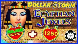 ️HIGH LIMIT Dollar Storm Egyptian Jewels MAJOR JACKPOT HANDPAY  ️$25 SPINS Slot Machine Casino