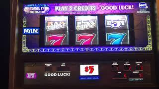 Slot Machine Live Play! 5 Times Pay * Triple Double Gold Doubloon * High Limit!