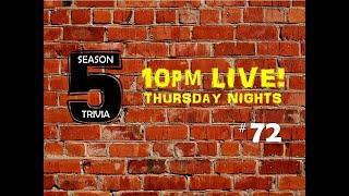 Thursday Night Trivia LIVE - Show #72