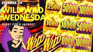 WILD WILD WEDNESDAY! QUEST FOR A JACKPOT [EP 24]  WILD WILD NUGGET Slot Machine (Aristocrat)