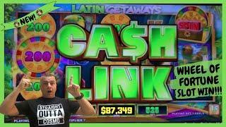 Wheel Of Fortune Cash Link Slot Machine Win