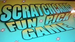 SCRATCHCARDS...VIEWERS PICK THE SCRATCHCARDS..GAME..
