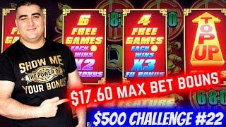 $17.60 Max Bet Bonus On ️Prancing Pigs Slot ! $500 Challenge To Win At Casino EP-22