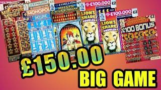 BIG SCRATCHCARD..GAME..& SCRATCHCARD PRIZES SENT TO YOU THE VIEWERS BY FREE POST..£100 PRIZE DRAW