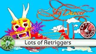 Sky Dancer slot machine, Big Bonus Win and Retriggers