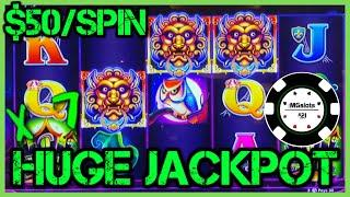 HIGH LIMIT Lock It Link Cats, Hats & More Bats MASSIVE JACKPOT HANDPAY $50 BONUS ROUND Slot Machine