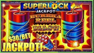 HIGH LIMIT SUPERLOCK Lock It Link Flower Fortune Eureka Reel Blast HANDPAY JACKPOT  $30 Bonus Round