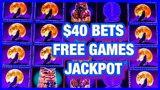 WOLF RUN SLOT JACKPOT/ $40 BETS/HIGH LIMIT/FREE GAMES