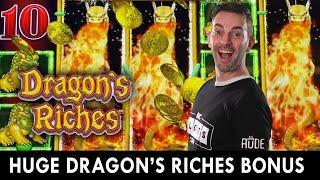 HUGE Dragon's Riches Bonus  $12 and $25 Spins on Lightning Link