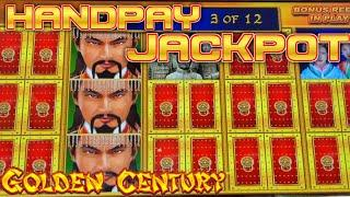 HIGH LIMIT Dragon Cash Link Happy Prosperous & Golden Century HANDPAY JACKPOT ~ $50 Bonus Round Slot