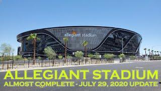Raiders Allegiant Stadium Almost Complete July 29 2020