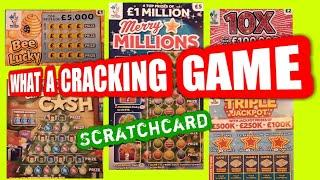 Wow!..Cracking ..exciting..Scratchcard  game..nearly £30,00.worth.£250,000..Merry Millions