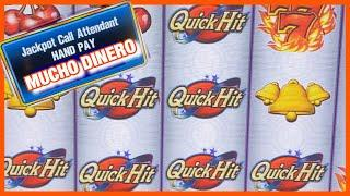 QUICK HIT JACKPOT/ HIGH LIMIT SLOT PLAY/ FREE GAMES/ MAX BETS